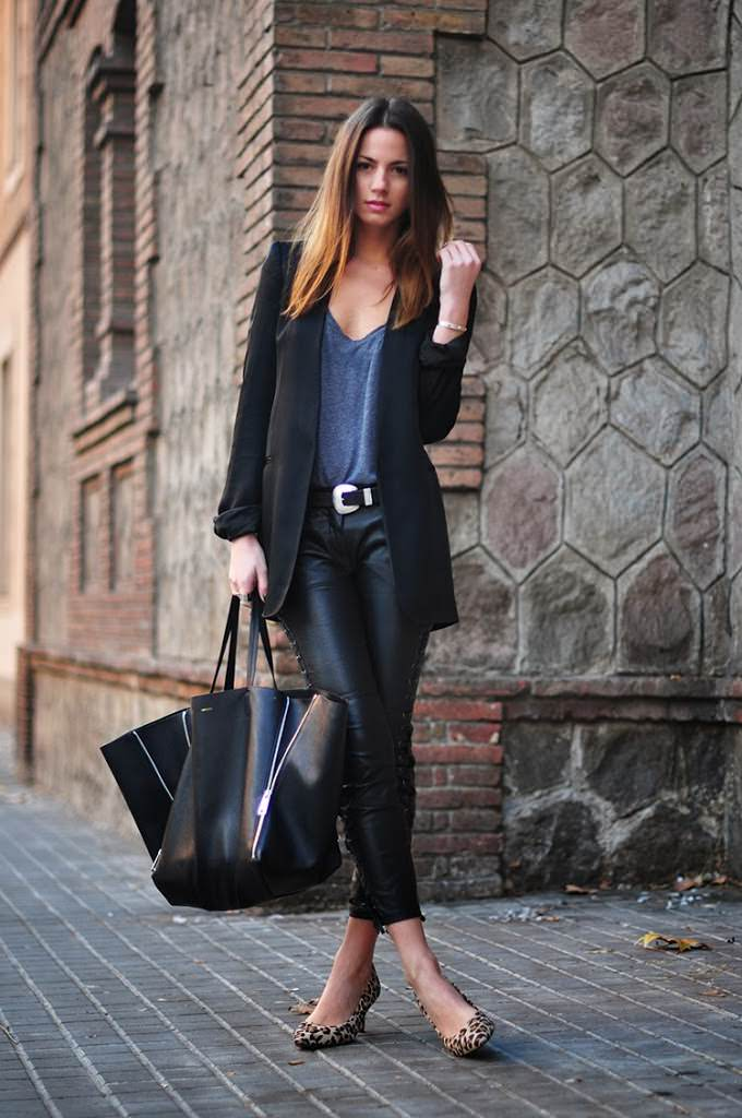 celine-bag-zina-charkoplia-leopard-heels-isabel-marant-leather-pants-blazer-casual_september2013